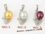 spp094 wholsale special colorized freshwater bread pearl pendant necklace