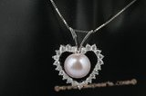 spp178 Apple shape sterling silver freshwater bread pearl pendant