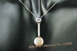 spp196 Timeless 925silver 13-14mm coin pearl pendant
