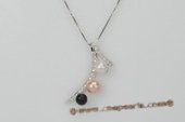 spp224 Specially Designed Colorful Round Pearl Pendant in Sterling Silver