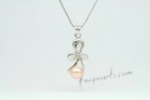 Spp340 Trendy Pink 7-7.5mm Bread pearl Sterling Silver Pendant