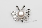 Spp385 White Freshwater Pearl Sterling Silver Pendant 6-7mm Bread AAA