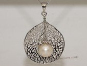 spp412 925 silver Sea Fan design Pendant jewelry dangle freshwater pearl