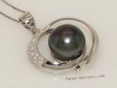 Spp423 Sterling Silver Circle of Illusion Pearl Pendant  for Women on Sale