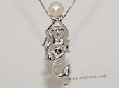 Spp434 Sterling Silver Mermaid Pendant with Cultured Freshwater Pearl