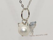 spp498  10-11mm Potato Pearl Sterling Silver  Charm Pendant