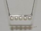 Spp553 Fashion freshwater pearl sterling silver chain Necklace