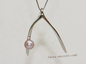 spp555  sterling silver 6-7mm freshwater round pearl pendant
