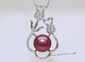 spp577 Sterling Silver Flower Style Pendant With Freshwater Pearl