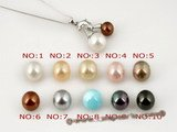 sppd007 White and Coffee shell pearl and dazzling zircon 925silver dolphin pendant