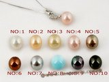 sppd013 10mm pink shell pearl with 925 silver pendant in wholesale