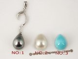 sppd020 Sterling silver 10*14mm teardrop shell pearl pendant necklace in wholesale