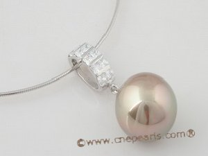 sppd023 Large size Sterling silver pendant tail drop with 20mm round shell pearl
