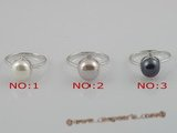 spr002 8.5-9mm freshwater pearl sterling silver mounting rings, us size 7
