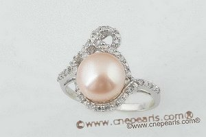 spr046 Exquisite 9-9.5mm bread pearl 925silver single-band sparkling ring