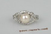 spr107 Sterling silver 7.5-8mm bread pearl designer ring