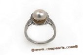 spr114 Sterling Silver Freshwater Bread Pearl Ring