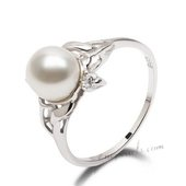 Spr131 Elegant Sterling Silver 7.5-8m Freshwater Bread Pearl  Ring