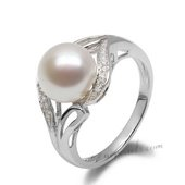 Spr133 Forever Collection Freshwater Pearl and Zircon Ring