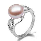 Spr141 Classic Collection Purple Freshwater Bread Pearl 925silver Ring