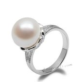 Spr144 Classic Collection Sterling Silver White Bread Pearl Ring
