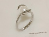 spr181 Sterling Silver 7-7.5mm Bread Freshwater Pearl Ring