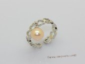 spr248 Sterling silver 7-7.5mm bread pearl adjustable tray ring