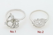 srm011 Fashion 925silver Ring Setting Mounting in wholesale,US size 7