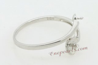 srm014 sterling silver Ring Setting Mounting for freshwater pearl,US size 7