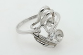 srm018 charming 925 sterling silver Ring Setting in wholesale,US size 7