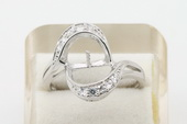 srm019 Wholesale charming sterling silver sparkling Ring Setting,US size 7