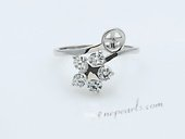 srm029 Stylish sparkling Flower sterling silver Ring Setting on sale,US size 7