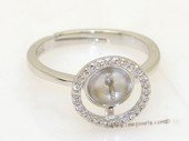 srm030 Fashion sparkling sterling silver Ring Setting in wholesale,US size 7