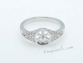 Srm031 Fashion sparkling Ring Setting in sterling silver wholesale,US size 7