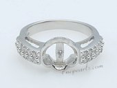 Srm032 Fashion 925 Silver sparkling Zircon Ring Setting wholesale,US size 7