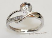 srm055  sterling silver ring setting in adjust size