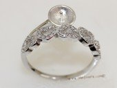 srm056  sterling silver ring setting in adjust size