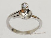 srm058  sterling silver ring setting in adjust size