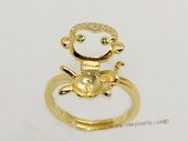 srm063  Gold color sterling silver ring setting