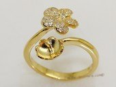 srm071  Gold color sterling silver ring setting