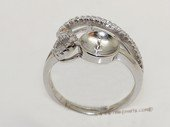 srm075 Fashion sparkling sterling silver Ring Setting in adjustable size