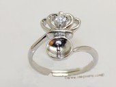 srm076 sterling silver ring setting in adjust size