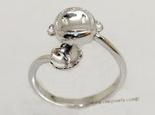 srm077 sterling silver ring setting in adjust size