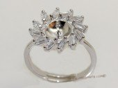 srm078 sterling silver ring setting in adjust size