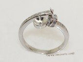 srm079 Fashion sparkling sterling silver Ring Setting in adjustable size