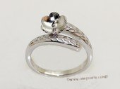 srm081 Fashion sparkling sterling silver Ring Setting in adjustable size