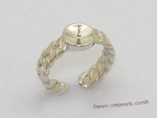 srm161  Wholesale adjust size sterling silver ring setting