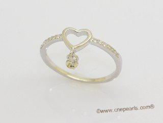 srm163 Stylish Love heart sterling silver Ring Setting on sale