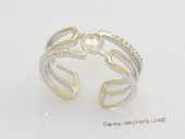 srm178 Fashion sparkling sterling silver Ring Setting in wholesale