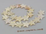 ss012 Five strands 20mm stellate white shell beads strands whole